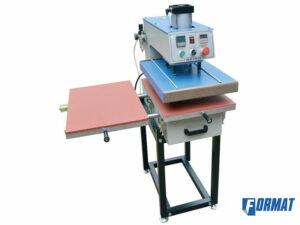 шелкотрафаретный термопресс пневматический 2х стольный